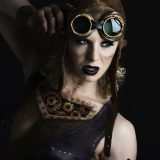 Steampunk bodypaint by Erin Geer, model Chelsea Brennan